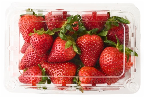 Organic - Berries - Strawberries Perspective: front
