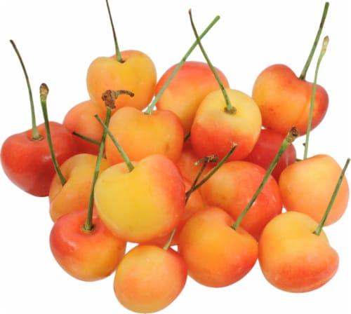 Organic Rainier Cherries Perspective: front