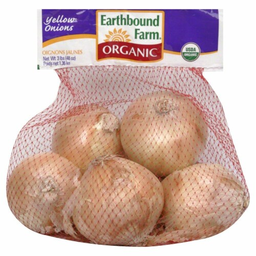 Earthbound Farm Judel Oragnics Yellow Onions Perspective: front