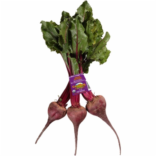 Organic Red Beets Bunch Perspective: front
