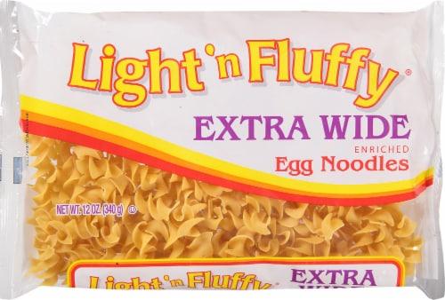 Light 'n Fluffy Extra Wide Enriched Egg Noodles Perspective: front