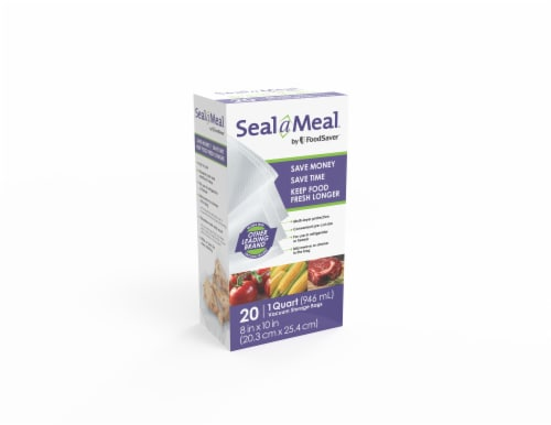 FoodSaver® Seal a Meal Quart Vacuum Storage Bags Perspective: front