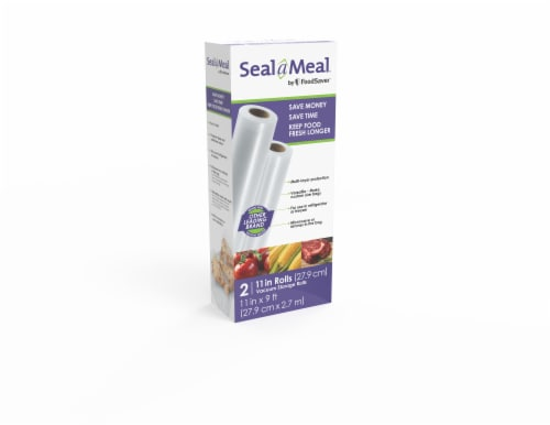FoodSaver® Seal a Meal Vacuum Storage Rolls - 2 Pack Perspective: front