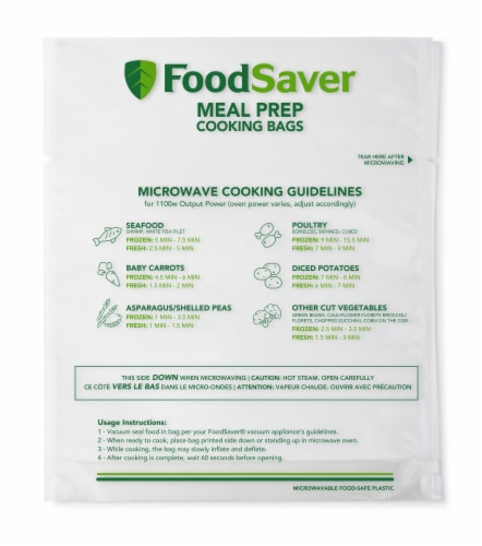 FoodSaver Meal Prep Microwavable Bags Perspective: front