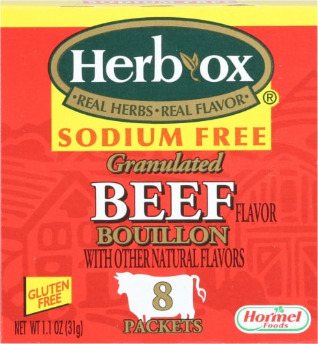 Herb-Ox Sodium Free Beef Bouillon Packets Perspective: front