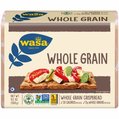 Wasa Whole Grain Crispbread Crackers Perspective: front
