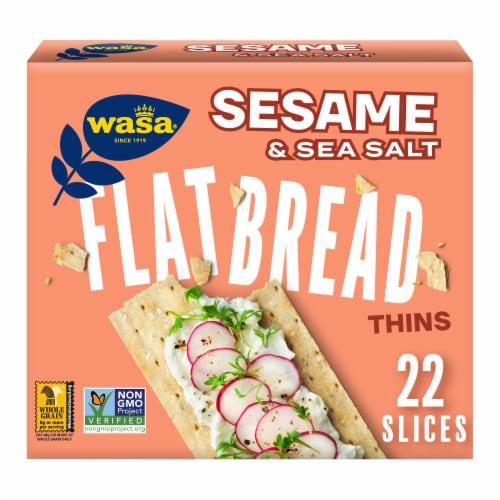 Wasa Thins Sesame & Sea Salt Flatbread Perspective: front