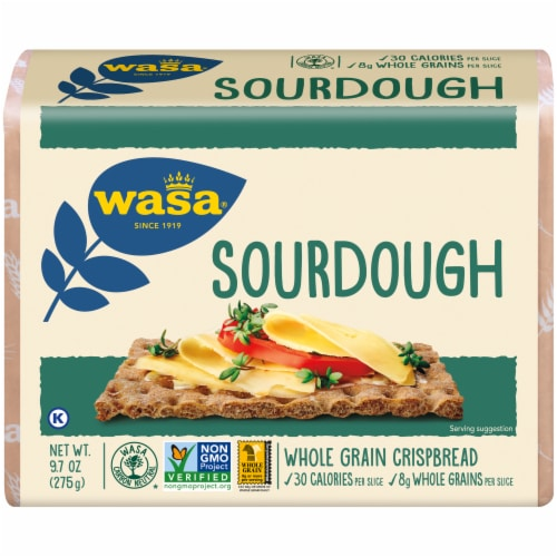 Wasa Sourdough Whole Grain Crispbread Perspective: front