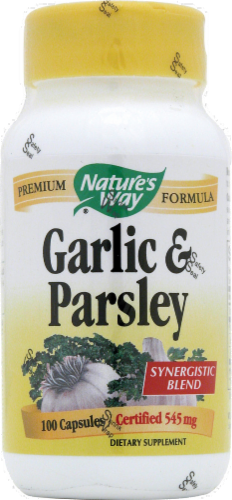 Nature's Way Garlic & Parsley Capsules Perspective: front