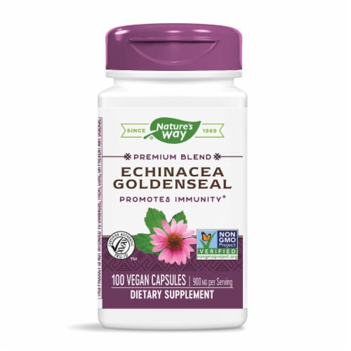 Nature's Way Echinacea Goldenseal Capsules 450mg Perspective: front