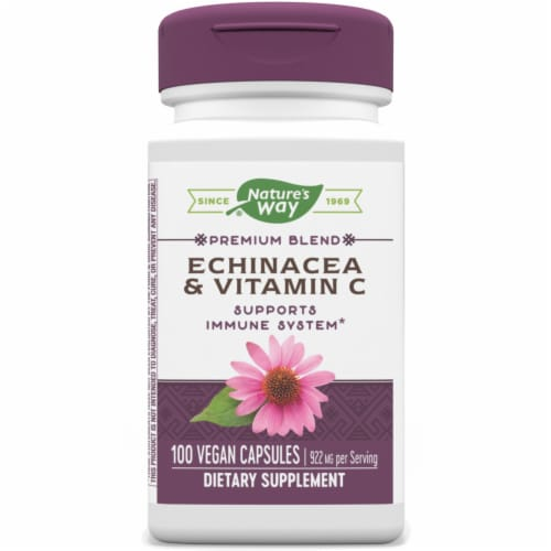 Nature's Way Echinacea & Ester C Capsules Perspective: front