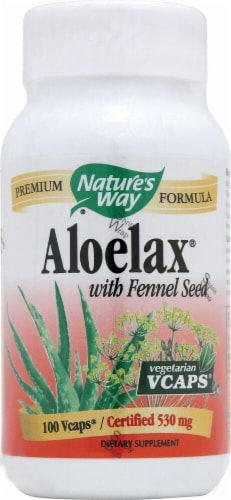 Nature's Way Aloelax® with Fennel Seed 530 mg Perspective: front