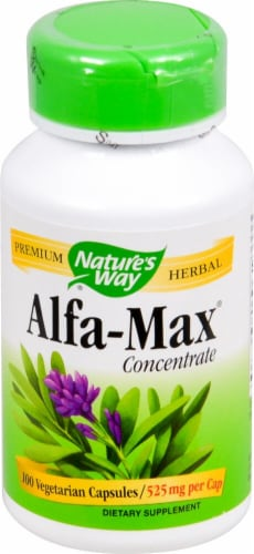Nature's Way Alfa-Max® Concentrate Capsules 525mg Perspective: front