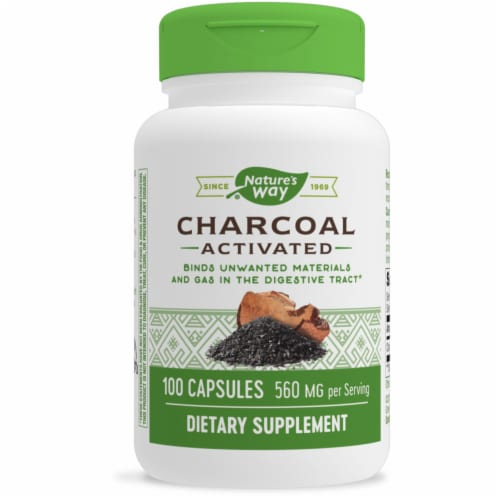Nature's Way Activated Charcoal Capsules Perspective: front