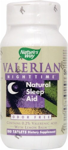 Nature's Way Valerian Nighttime Natural Sleep Aid Capsules Perspective: front