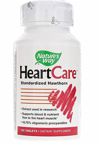 Nature's Way HeartCare Hawthorn Extract Tablets Perspective: front