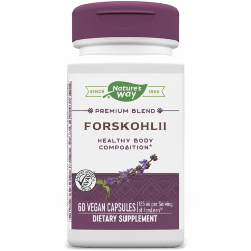Nature's Way Forskohlii Dietary Supplement Vegan Capsules 125mg Perspective: front