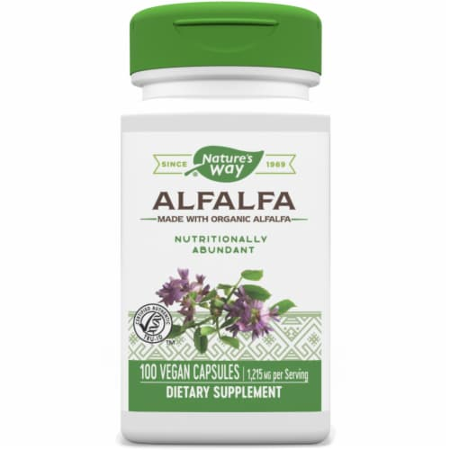 Nature's Way Alfalfa Leaves Capsules Perspective: front