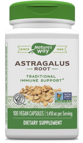 Nature's Way Astragalus Root Capsules 1410mg Perspective: front