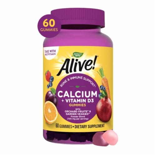 Nature's Way Alive Calcium Gummies Perspective: front