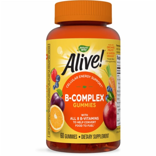 Nature's Way Alive! Cherry Flavored B-Complex Gummies Perspective: front
