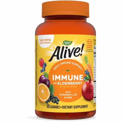 Nature's Way Alive! Immune Gummies Perspective: front