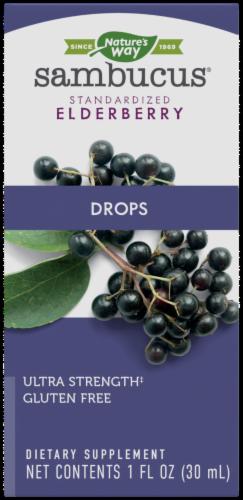 Nature's Way Sambucus Ultra-Strength Elderberry Drops Perspective: front