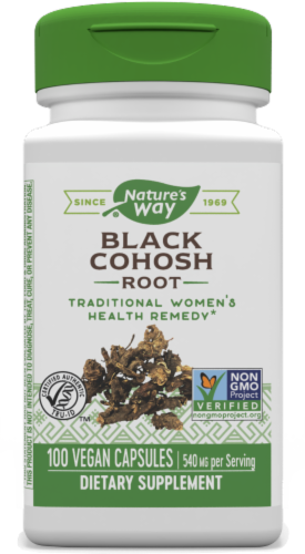 Nature's Way Black Cohosh Root Capsules 540mg Perspective: front