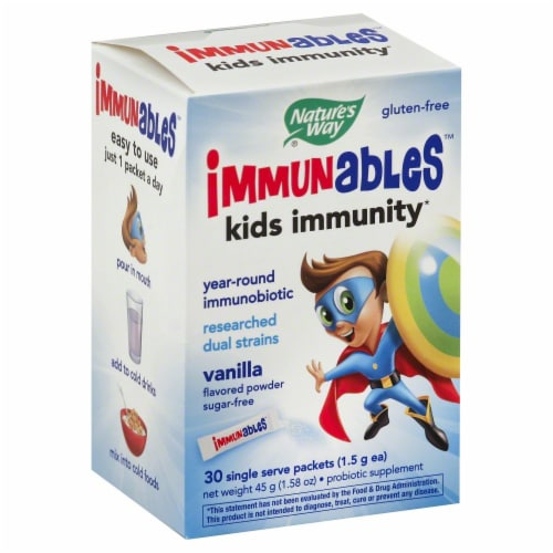 Nature's Way Immunables Kids Immunity Vanilla Flavor Powder Packets Perspective: front