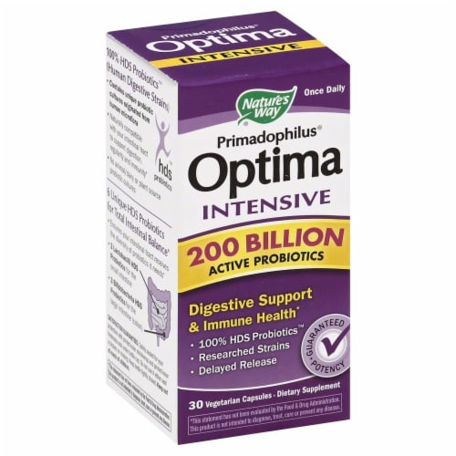 Nature's Way Primadophilus Optima Digestive Support & Immune Health Capsules Perspective: front