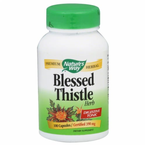 Nature's Way Blessed Thistle Herb Capsules 390mg Perspective: front