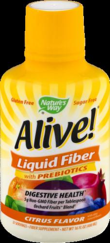 Nature's Way Alive! Citrus Flavor Liquid Fiber with Prebiotcs Perspective: front