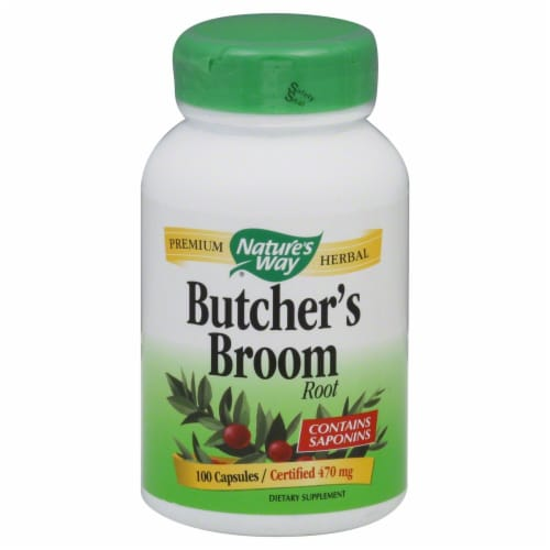 Nature's Way Butchers Broom Root Capsules Perspective: front