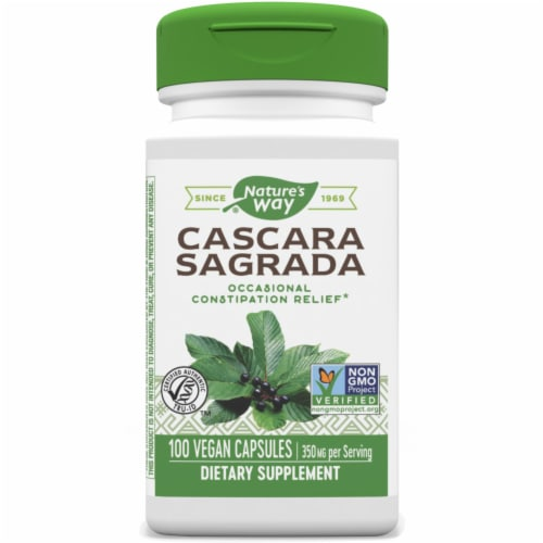 Nature's Way Cascara Sagrada Aged Bark Capsules Perspective: front