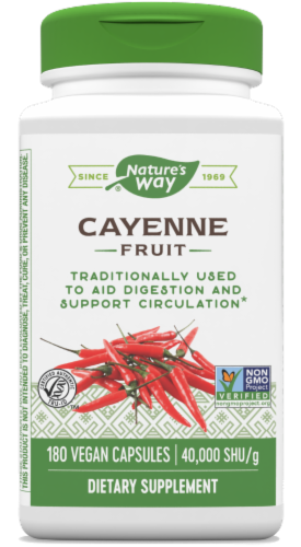 Nature's Way Cayenne Supplement Capsules Perspective: front