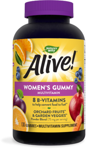 Nature's Way Alive! Mixed Berry Women's Multi-Vitamins Gummies Perspective: front