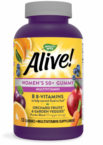 Nature's Way Alive! Women's 50+ Gummy Vitamins Perspective: front