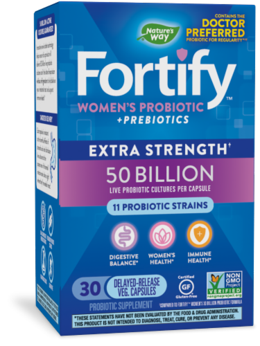 Nature's Way Primadophilus Fortify Women's Probiotic Capsules Perspective: front