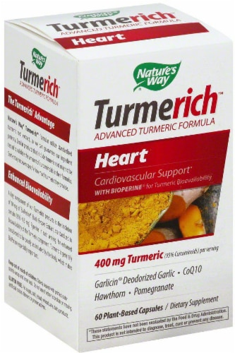 Nature's Way Turmerich Heart Capsules 400 mg Perspective: front