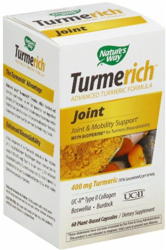 Nature's Way Turmerich Joint 400mg Capsules Perspective: front