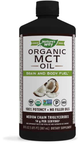 Nature's Way Organic MCT Oil Perspective: front