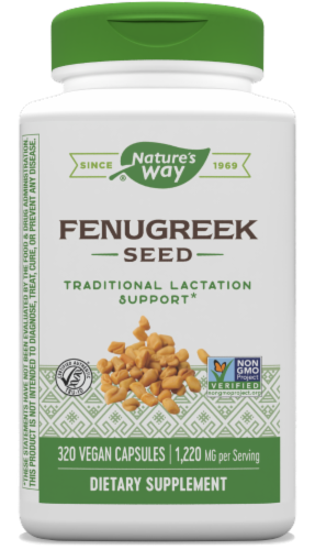 Nature's Way Fenugreek Seed Capsules Perspective: front