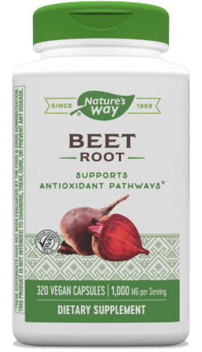 Nature's Way Beet Root Capsules 500mg Perspective: front