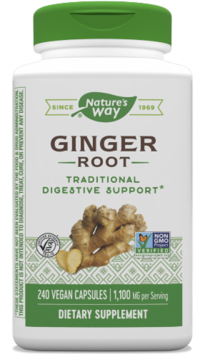 Nature's Way Ginger Root Capsules 550mg Perspective: front