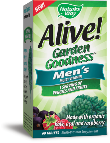 Nature's Way Alive! Garden Goodness Men's Multi-Vitamin Tablets Perspective: front