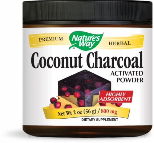 Nature's Way Coconut Charcoal Activated Powder Perspective: front