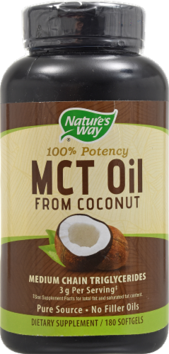 Nature's Way MCT Oil from Coconut Softgels Perspective: front