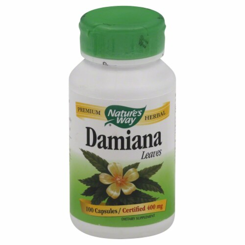 Nature's Way Damiana Leaves Capsules 400 mg Perspective: front