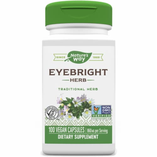 Nature's Way Eyebright Herb Capsules 430 mg Perspective: front