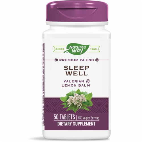 Nature's Way Sleep Well Tablets 480mg Perspective: front